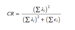 CR formula